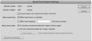 QuickTime Export Settings in Flash